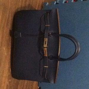 40cm royal blue leather purse